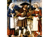 Jacob with his two wives - a French manuscript, 1495