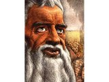 Moses and the tablets - a portrait by Guy Rowe