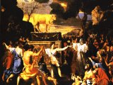 The Adoration of the Golden Calf, by French artist Nicolas Poussin (1594-1665) - National Gallery, London