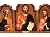 Christ between St. Peter and St. James Major, by Cimabue, c.1270 - Andrew W. Mellon Collection