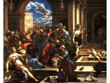 Christ Cleansing the Temple, by El Greco, c.1570 - Samuel H. Kress Collection