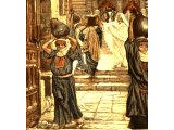 Jesus forbids the carrying of vessels through the Temple , from The Life of Jesus Christ by J.J.Tissot, 1899
