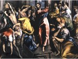 Scourging the Money-changers from the Temple - El Greco