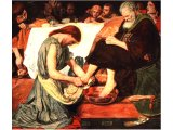 `Christ washing St. Peter`s feet` - Madox Brown 1851, National Gallery.