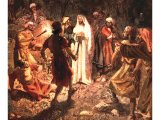 Jesus facing the soldiers in the Garden of Gethsemane - by William Hole