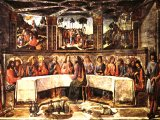 Last Supper by Cosimo Rosselli and Biagio d`Antonio Tucci , at the Sistine Chapel, Pauline Chapel