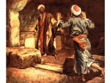 Peter and John enter the empty tomb - by William Hole
