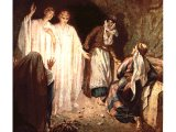 The women meeting the angels at the tomb on Easter morning - by William Hole