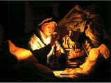 `The Rich Fool` by Rembrandt. Panel, 1627. Berlin, Gem ldegalerie der Staatlichen Museen.