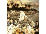 Jesus teaching on the seashore, from The Life of Jesus Christ by J.J.Tissot, 1899