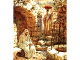 The Samaritan woman coming to the well - by William Hole