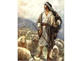 The parable of the Good Shepherd - painting by Harold Copping