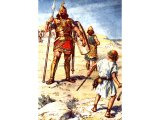 David and Goliath (Painting by C.E.Brock)