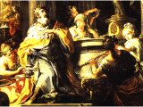 Idolatry of Solomon - Italian painter Sebastiano Conca, 18th century