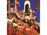 The visions of Zechariah - from a 14th century illuminated Bible