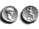 The Roman tribute-money which the Pharisees and Herodians produced (Mark xii, 13-17) was the silver denarius, bearing the image and superscription of Tiberius Caesar.
