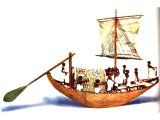 Ancient Egyptian sail boat, from about 2000 BC