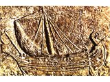 Large merchant ship, represented on sarcophagus from Sidon.