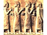 Phoenicians on Persepolis relief. 5th century BC.