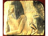 Amen Moser and his wife Depet, 18th Dynasty. Limestone relief from a grave of the 18th Dynasty, c 1400 BC