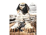 This sphinx adjoins the pyramid of Chephren, King of Egypt and contained the dream tablet of Thothmes IV. On it is recorded a prophetic dream, which he had while sleeping in the shade of the sphinx.