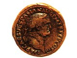 Coin of the Roman emperor Vespasian.