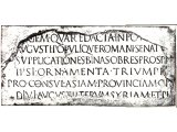 Inscription thought to relate to Quirinius.