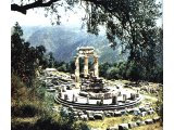 The temple of Athena near Delphi