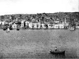 Thessalonica harbour, looking to the north.(A photograph by R E M Bain in about 1890)