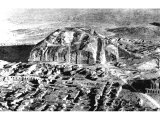 The Ziggurat or `Mountain of God` at Ur. Erected by Ur-Engur, king about 2400 BC. An early photograph of the site.