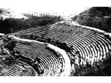 The wonderfully preserved Graeco-Roman theatre at Amman. Amman, formerly capital of the Ammonites (Rabbath-Amman) conquered by David, has been rebuilt on the Greek plan by Ptolemy Philadelphus.