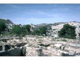 Jerusalem - Temple mount/Mt of Olives (wide view) - From Caiaphas` House
