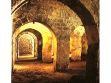 The `Solomon`s Stables` under the platform of the Temple. This is a series of huge arches, built by Herod the Great.