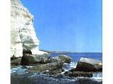 The high cliffs a few miles south of Tyre are very different from the rest of Israel`s coastline.