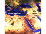 Satellite photo of Middle East