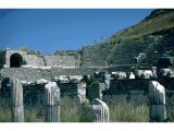 Ephesus - Odeum (Senate House/Theatre) - Columns of Agora in foreground