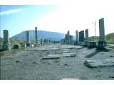 Pergamum - Lower site - The `Sacred Way` - Upper site in background. This was the main thoroughfare leading to the Asklepieion