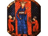 A high priest with the Urim and Thummin - a Hebrew miniature, 13th century