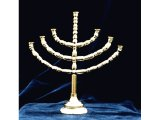 Model of the 7-branched lampstand or Menorah, from a model of Moses` Tabernacle in the Wilderness.  Model by Andrew Gillesae, photographed by Paul McCabe
