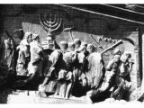 Titus` Arch erected in Rome in honour of the capture of Jerusalem in A.D. 70,. Vespasian left the completion of Judaea`s conquest to his son Titus. This sculptured panel shows the victors carrying off the treasures of the Temple,