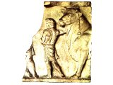 Relief found at Rome, showing a slave leading a garlanded bull, ready for sacrifice. Cf. Acts 14:12-13.