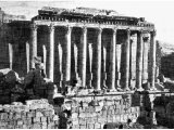 In the Second Book of the Maccabees the Jews were compelled to go in procession in honour of Bacchus. Here we see the Temple of Bacchus at Baalbek. The worship of this god was accompanied by much licentiousness.