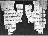 Dating back to AD 150 this is possibly the earliest known fragment of the New Testament and may have come from the site of the ruined city of Oxyrhynchus. It forms part of the collection at the John Rylands Library, Manchester.